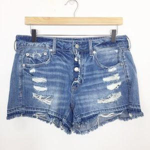 American Eagle | Distressed Tomgirl Midi Shorts 6